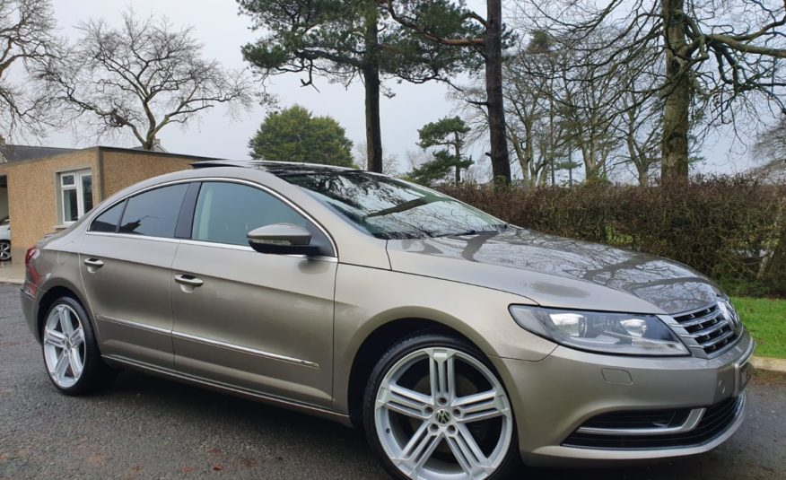 Sep 2012 Volkswagen CC 2.0 TDI BlueMotion Tech 4dr FULL MOT, PANROOF, SATNAV, 19″ALLOYS,BOOT SPOILER