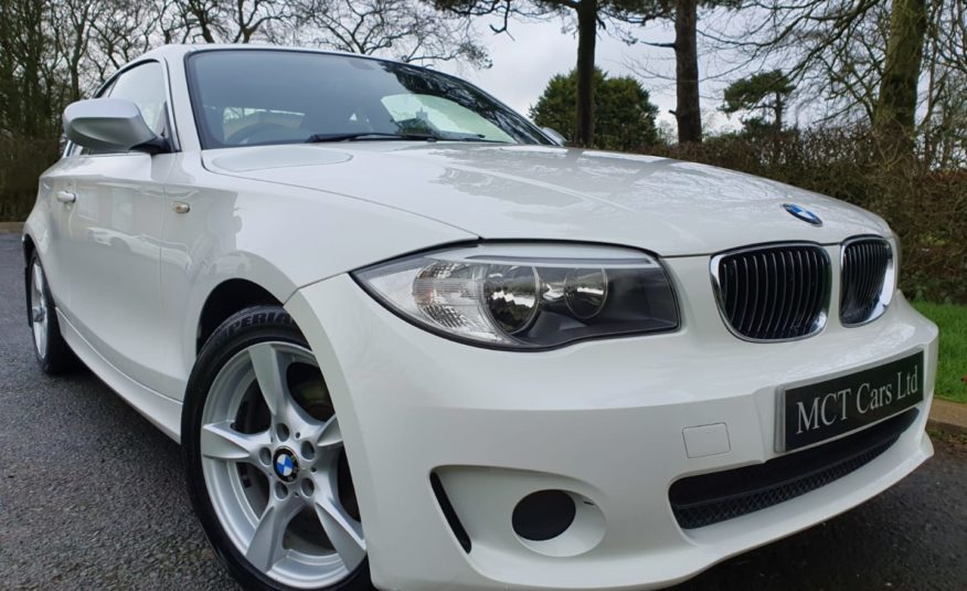 Jul 2012 BMW 1 Series 118d Exclusive Edition 2dr (ALPINE WHITE) FULL LEATHER, FULL SERVICE HISTORY