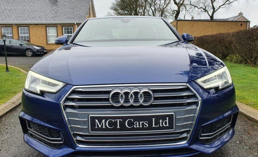 Oct 2017 Audi A4 2.0 TDI 190 S Line 4dr S Tronic ONE OWNER, FULL AUDI S/H, AS NEW!