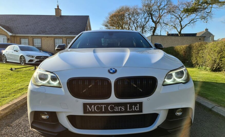 March 2016 BMW 5 Series 520d M Sport 4dr Auto ALPINE WHITE, M PERFORMANCE KITTED, NEW 20 INCH ALLOYS