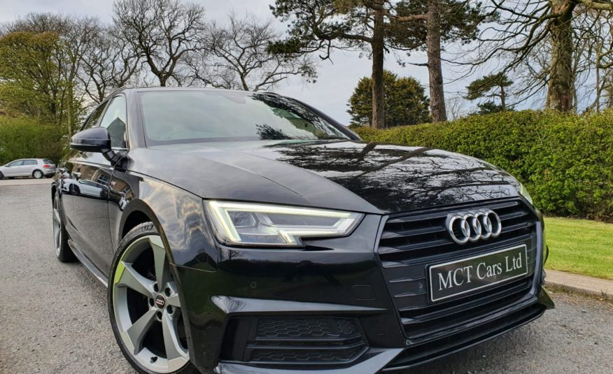 2018 Audi A4 2.0 TDI 190 Black Edition 5dr S Tronic PAN ROOF, STUNNING CAR, 1 OWNER, FULL AUDI S/H, RS ALLOYS
