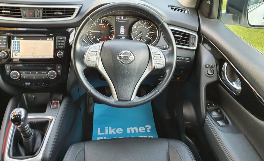 2015 Nissan Qashqai 1.5 dCi Tekna 5dr HEATED LEATHER, NAV, 360 CAMERA, PAN ROOF, XENONS, TOP SPEC